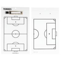 """Такт. доска для футб. """"TORRES"""", арт. TR1002S, маркерная, с зажимом, в компл. маркер, белая"""