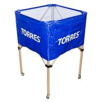 """Тележка для мячей """"TORRES"""", арт.SS11022, на 25-30 шт., дл. 67см, глуб.45 см, выс.103 см, сине-белая"""