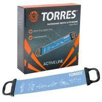 """Эспандер """"TORRES латексная лента"""", арт. AL0025, длина 72 см, шир.15 см, сопротивление 8 кг, голубой"""