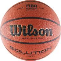 Мяч баск. WILSON Solution, арт.B0686X, р.6, FIBA Appr, микрофибра, бутил. камера, коричневый
