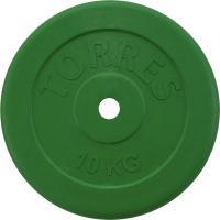 """Диск обрезин. """"TORRES  10 кг"""" арт.PL504110, d.25мм, металл в рез. оболочке,зеленый ТОЛЬКО УПАК. 2 ШТ"""