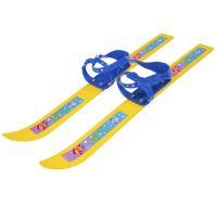 Мини-лыжи Олимпик-спорт с палками Мишки ( в сетке)