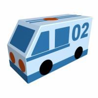 Мягкий модуль Фургон Полиция Романа ДМФ-МК-01.23.03, фото