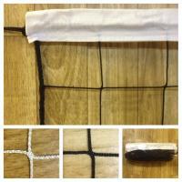 Сетка волейбольная 9,5*1,0м с тросом ( арт  040540)  , нить 4мм, цвет белый-черный