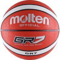 "Мяч баск. ""MOLTEN BGR7-RW"" р.7, 12 панелей, резина, бут.кам, нейл.корд, крас-бел-чер"