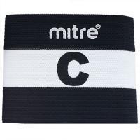 """Капитанская повязка """"MITRE"""" арт. A4029ABJ7, 100% спандекс, безразмерная, черно-белый"""