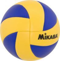 """Мяч вол. сув. """"MIKASA MVA1.5"""", р.1, диам. 15 см синт. кожа (ПВХ),маш.сш,сине-желтый"""