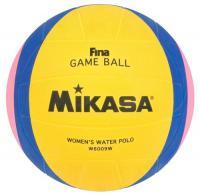 "Мяч для водного поло ""MIKASA W6009W"" FINA Approved, резина, жен. размер, желт-сине-розовый"