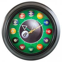 Часы настенные «12 шаров» D30 см (черные), металл