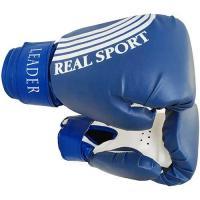 Перчатки боксерские LEADER   6 унций, синий