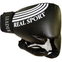 Перчатки боксерские  LEADER 12 унций, черный