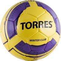 "СЦ*Мяч футб. ""TORRES Winter Club YEL"",арт.F30045YELр.5, 32 пан. PU underglass, 4 подк. слоя,  желт"