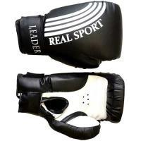 Перчатки боксерские  LEADER  6 унций, черный