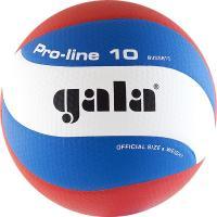 "Мяч вол. ""GALA Pro-Line 10"" арт. BV5581S, р. 5,синт.кожа ПУ Microfiber,клееный,бут.кам,бело-гол-крас"