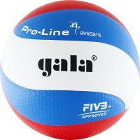 """Мяч вол. """"GALA Pro-Line 10 FIVB"""" арт.BV5591S, р. 5,FIVB Appr,синт.к. ПУ Microfiber,клеен,бел-гол-кра"""