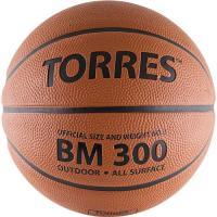 "Мяч баск. ""TORRES BM300"" арт.B00013, р.3, резина, нейлон. корд, бут. камера, темнооранж-черн"