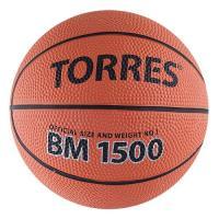 "Мяч баск.сув.""TORRES BM1500"" арт.B00101, р.1,диам. 12 см, резина, нейлон. корд,бут. кам,кор-черн"
