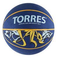 "Мяч баск.сув.""TORRES Jam"" арт.B00041, р.1, диам.12 см, резина, ней. корд, бут. кам,син-желт-голуб"