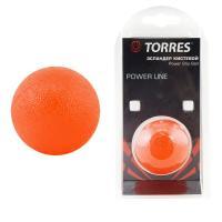 """Эспандер кистевой """"TORRES мяч"""" арт.PL0001, диаметр 5 см, термопластичная резина, красный"""