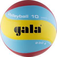 "Мяч вол. ""GALA 230 Light 10"" арт. BV5651S, р. 5, синт. кожа ПУ, клееный, бут. кам, голубо-красн-желт"