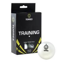 Мяч для наст. тенниса TORRES  Training 1*,  арт. TT0016, диам. 40+ мм, упак. 6 шт, белый