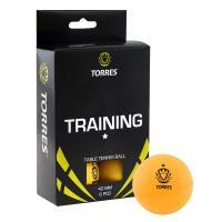 Мяч для наст. тенниса TORRES  Training 1*, арт. TT0015, диам. 40+ мм, упак. 6 шт, оранж