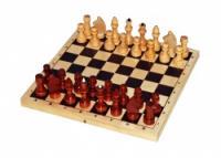 Шахматы лакированные с доской, 29*14,5*4 см, P-1