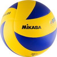 "Мяч вол. ""MIKASA MVA200"", р.5, оф.мяч FIVB, FIVB Appr, синт.кожа (микрофиб), 8 пан, клееный,син-желт"