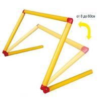 Барьер для тренировок, арт.У769/MR-B8-60, регулир. выс. 8-60 см, пластик,желт-красн