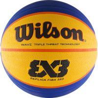 Мяч баск. WILSON FIBA3x3 Replica, арт.WTB1033XB, р.6, резина, бутил. камера, сине-желтый