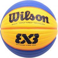 Мяч баск. WILSON FIBA3x3 Official, арт.WTB0533XB, р.6, синт. PU, бутил. камера, сине-желтый