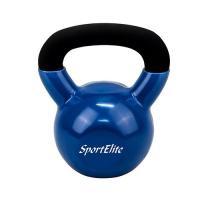 Гиря 12 кг чугунная обрезиненная SportElite 12 кг