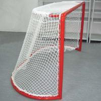 Сетка для хоккейных ворот (арт 060122)  Ø 2,2 мм 1,25х1,85х(0,70х1,30)м , цвет белый (пара)