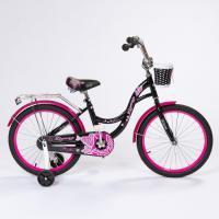 Велосипед 20 ZIGZAG GIRL Черный/малиновый, фото