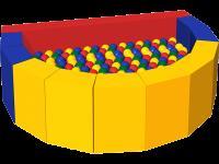 Сухой бассейн с шариками «Долька» ДМФ-МК-12.47.00