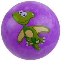 """Мяч """"Динозаврики"""", d=25 см, цвет фиолетовый 3575056"""