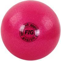 Мяч для худ. гимнастики (15 см, 280 гр)  розовый металлик GC 02