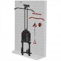 Блоковый тренажер пристенный с поворотными блоками Leco-IT Starter