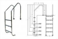 Лестница для бассейнов серии L L205
