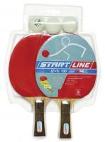 Набор START LINE: 2 Ракетки Level 100, 3 Мяча, упаковка блистер, фото