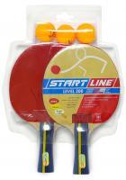Набор START LINE: 2 Ракетки Level 200, 3 Мяча Club Select, упаковано в блистер, фото