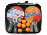 Набор START LINE: 4 Ракетки Level 200, 6 Мячей Club Select, упаковано в сумку на молнии с ручкой, фото