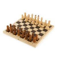Шахматы парафинированные с доской, 29*14,5*4 см, P-4