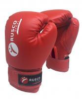 Перчатки боксерские Rusco,10oz, к/з, красные