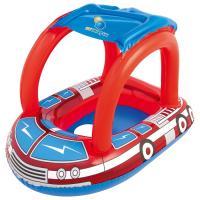 Круг для плавания с сиденьем и тентом «Пожарная машина»