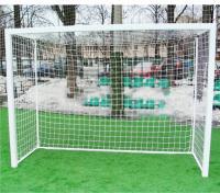 Сетка футзала и гандбола нить 2,2 мм, без гасителя, белый (2Х3Х1Х1,5м) 2шт. 2022-03