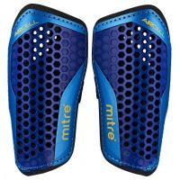 Щитки футбольные Mitre Aircell Carbon Slip S70004BCY black/cyan/yellow без голеностопа L