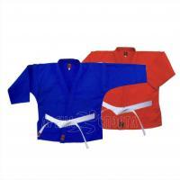 Куртка самбо рост 130, синяя, красная