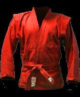 Куртка для самбо JS-302, красная, р.00/120 Green Hill