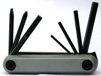Шестигранники набор в ноже (красный, серый, 5 штук+2 отвертки)